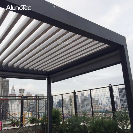 Adjustable Opening Roof System Aluminum Motorized Pergola Kits