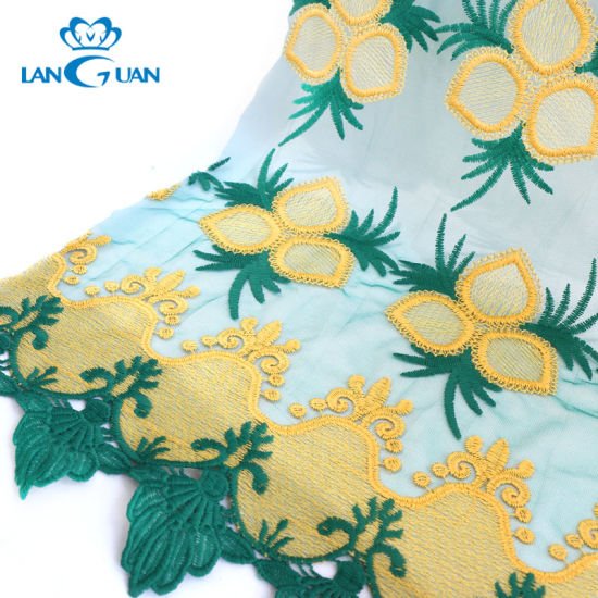 100% Nylon Embroidery Mesh 3D Lace Fabric