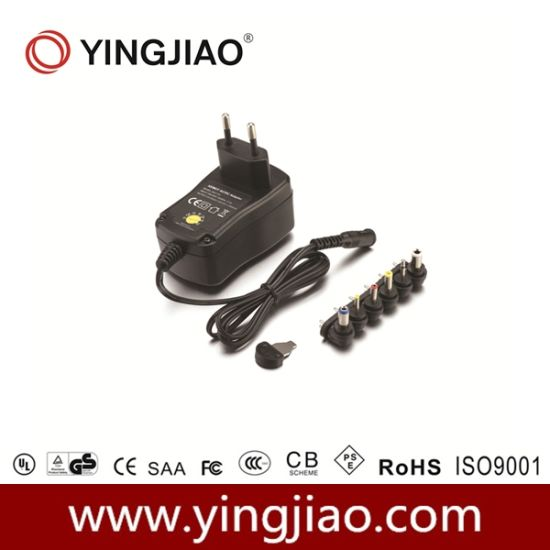 1000mA Switching Mode Universal Regulated Power Adapter pictures & photos
