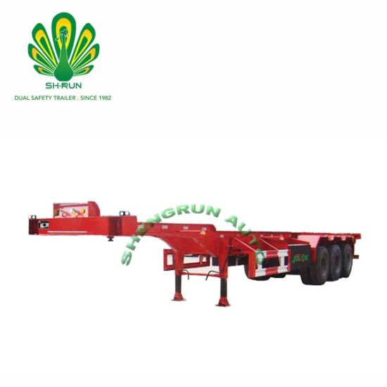 Flat Bed Semi Ttrailer Container Truck Trailer