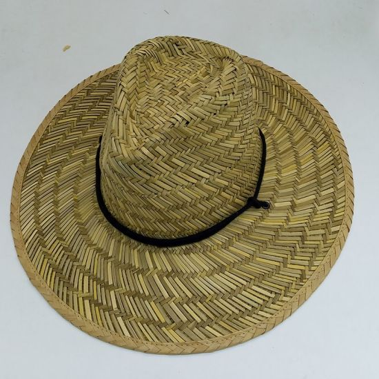 7d60da209 Hollow Straw Wide Brim Cowboy Straw Hat for Men