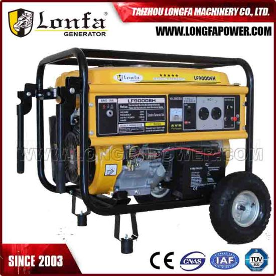 Pure Copper Coil 15HP 7.5 kVA Gasoline Generator (Electric start with battery) pictures & photos