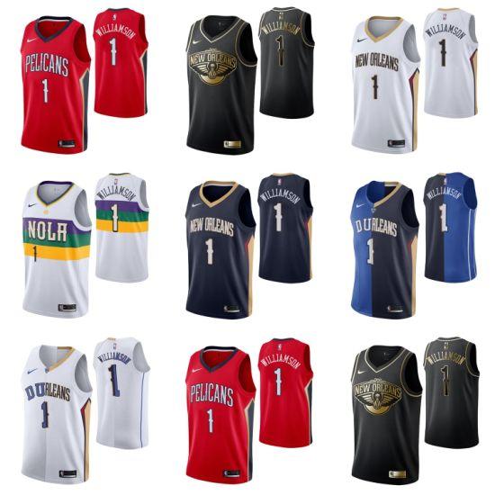 2019 N B A Draft New Orleans Pelicans 1 Zion Williamson Basketball Jerseys