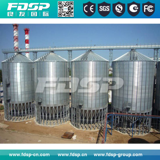 Hopper Bottom Grain Bins Customized Grain Storage Steel Silo