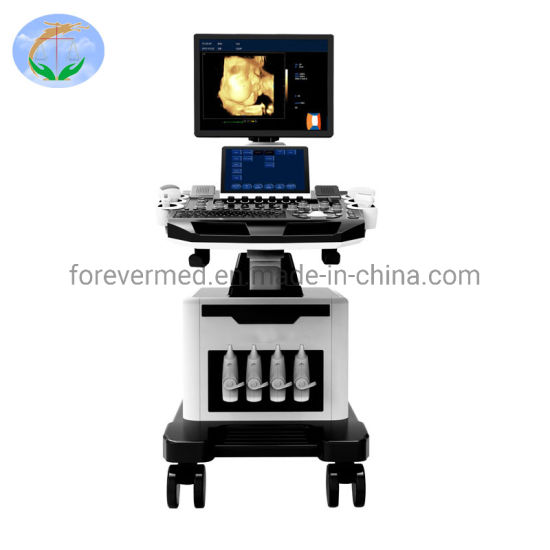 19 Inch 2 Monitor 4D Trolley Ultrasound Diagnostic Scanner for Ob/Gyn
