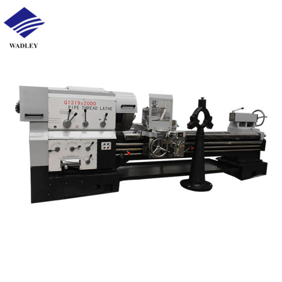 Qk1313 CNC Centerless Lathe Machine Siemen CNC Pipe Threading