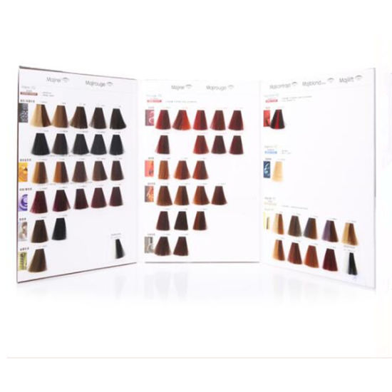China Oem Manufacturer Salon Professional Hair Color Swatch Chart