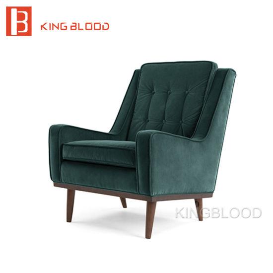 Velvet Upholstered Wooden Sex Sofa Set Chair Designs Armchair
