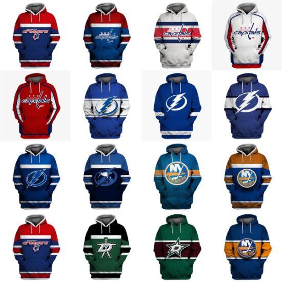 Wholesale 2019 Capitals Lightning Islanders Stars Putian Sweaters Pullovers Hoodies