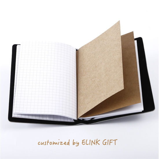 Personalized Design Soft Leather Diary Notebook Journal Notebook with Paper Dividers