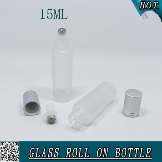 1/2 Oz 15ml Frosted Roll on Glass Bottle for Essential Oil Cosmeics pictures & photos