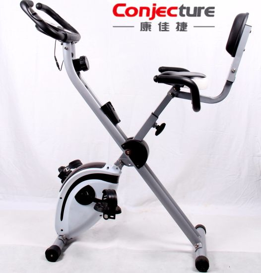 Folding Upright Magnetic Exercise X-Bike, Home Fitness Exercise Trainer pictures & photos