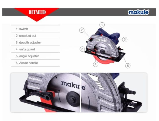 Makute 185mm 1380W Circular Saw (CS003) pictures & photos