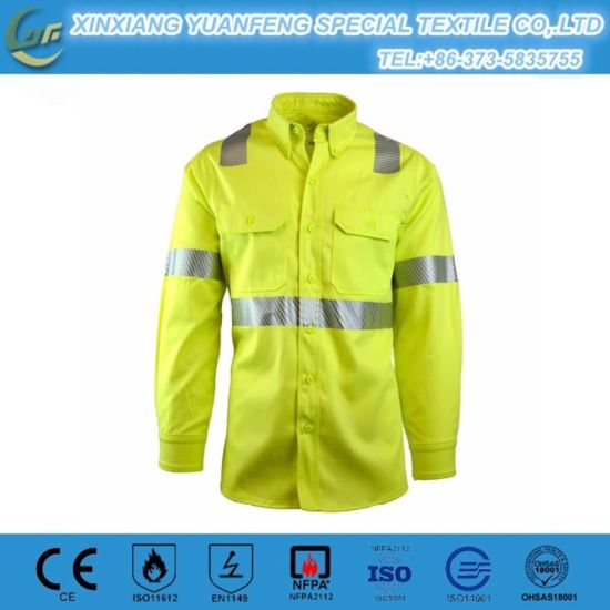 dc5cae7c803e China En 11612 Flame Retardant 4.5oz Aramid Iiia Protective Clothing ...