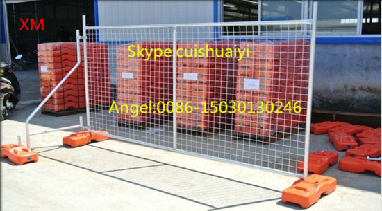 High Security Hot-Dipped Galvanized Welded Iron Wire Mesh Temporary Fence pictures & photos