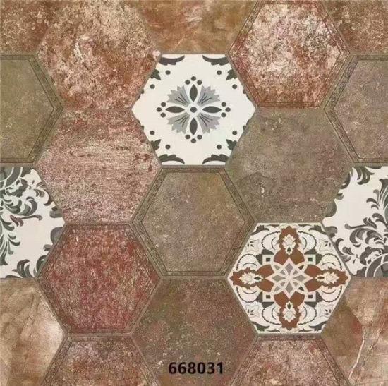 Hexagonal Ceramic Floor Tile Of Rustic For Ukraine Market