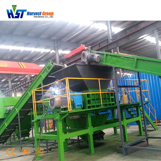 Waste Tyre Recycling Machine Equipment Tire Shredder Machine Tire Crusher Production Line Rubber Crumb Grinding Machine