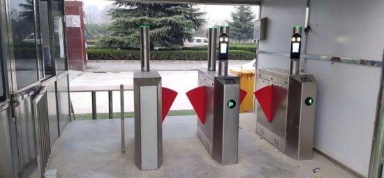 High Security Face Recognition Fingerprint Access Control Flap Barrier Turnstile Gate