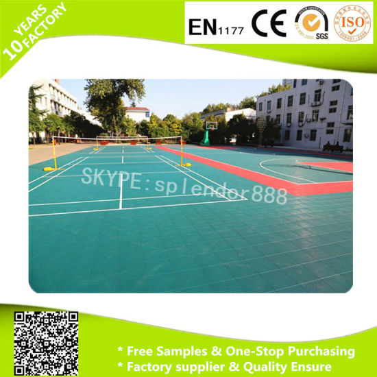 Interlock Plastic Flooring for Playground Sports PP Flooring Tiles pictures & photos