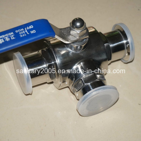 Sanitary Triclmp L Type Ball Valve for SS304 SS316L Material
