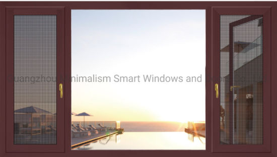 Modern Design Double Glazing Aluminium Glass Window with Wire Mesh