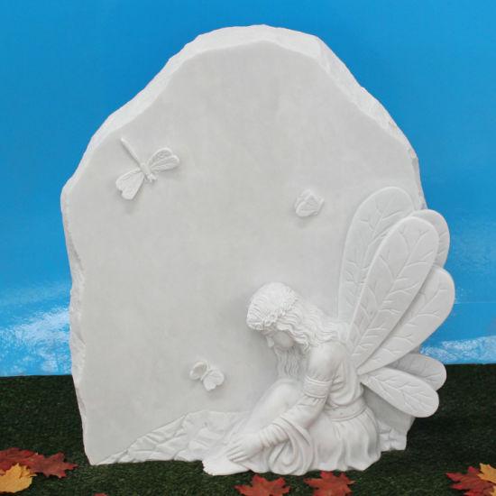 China White Marble Unique Design Childrens Headstone