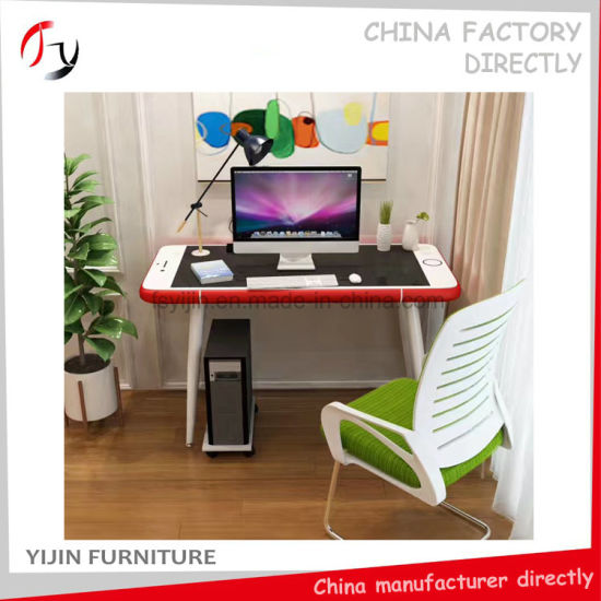 Chinese Red Fancy Exquisite Apple Glass Computer Study Table (APT 2)