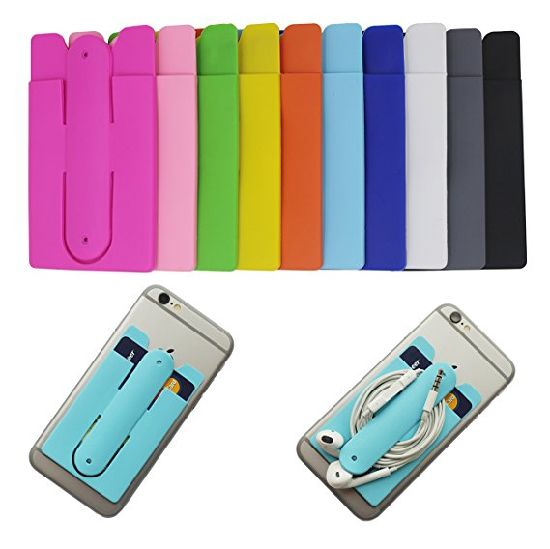 new product 32883 1e87c China Universal Silicone Phone Wallet Sticker with Kickstand, Credit ...