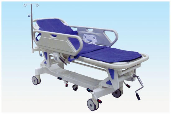 Medical Equipment Luxurious Rise-and-Fall Stretcher Cart Wr-C3 pictures & photos