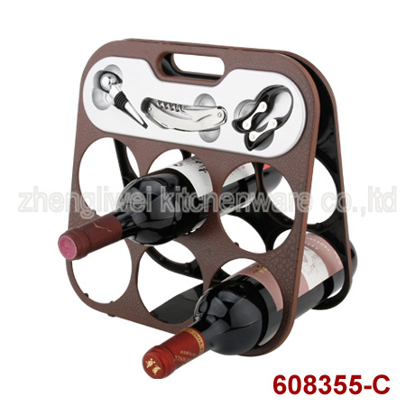 Six Bottle Wine Rack Varies Designs (608355-C/D/E/F/G/H/I/J) pictures & photos
