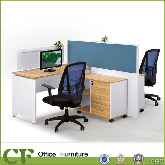 Charming Modern Office 2 Person Cubicle With Full Height Partition