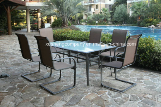 Aluminum+ Steel 7PCS Moder Furniture Set by Table+Chairs pictures & photos
