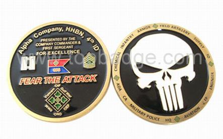 Fashion Custom Hot Sales Soft Enamel Metal Coin (FDCN2214F)