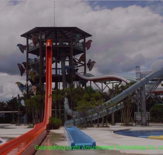 8m Scary Free-Fall Water Slide for Aqua Amusement Park (WS-055)