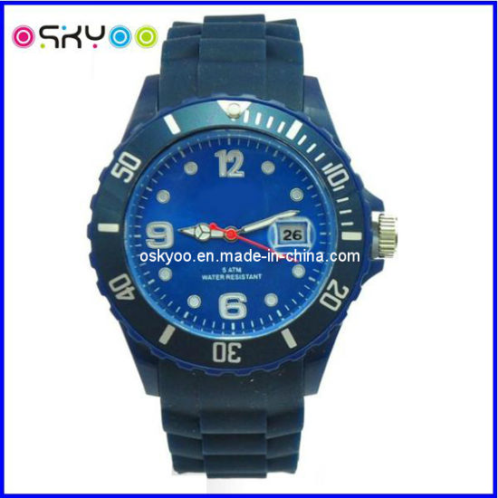 Custom Made Silicone Sports Fashion Quartz Digital Wrist Watch with Your Logo (P6800) pictures & photos