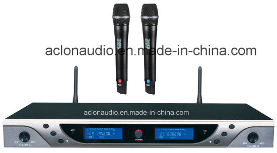 Aclon Wholesale UHF Karaoke 100 Meters Range Professional Wireless Microphone pictures & photos