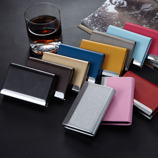 Wholesale Promotional PU Business Card Holder Case for Business Gift