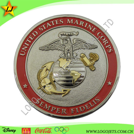 Low MOQ & Fast Delivery Colorful Soft Enamel Zinc Alloy Coin for Promotion Gift