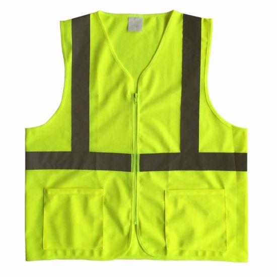 Reflective Safety Vest with Pockets