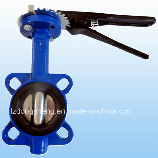 Cast Iron Wafer Type Butterfly Valve with Hand Lever pictures & photos