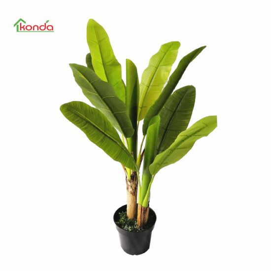 Hot Selling Real Touch Plastic Travaler Banana Tree Artificial Skybird Tree Indoor