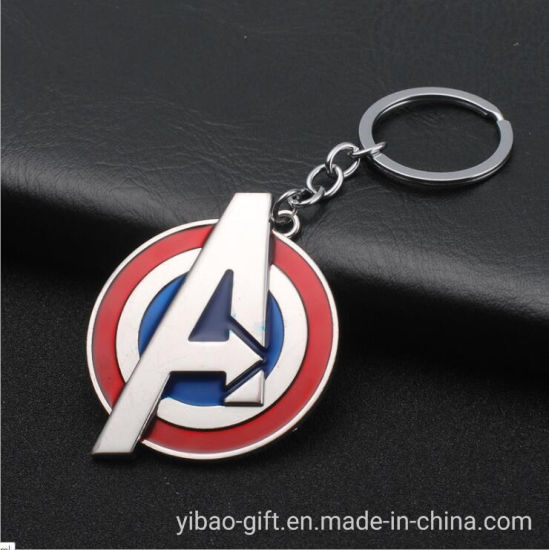 Promotional Gifts Custom The Avengers Metal Key Chain for Key Holder (YB-MK-8)