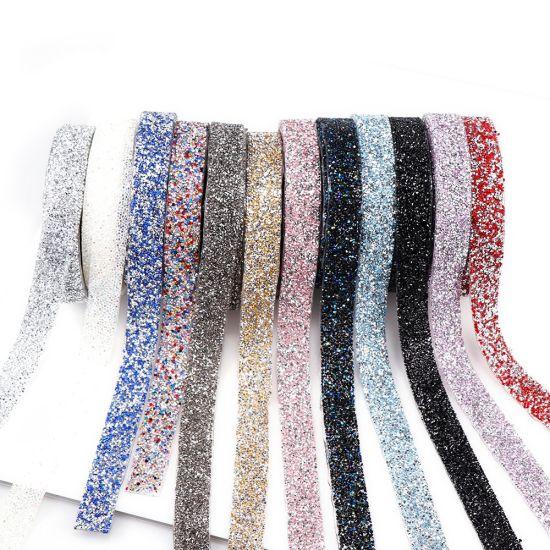 Wholesale High Quality Hotfix Colorful Rhinestones Fabric Sheet