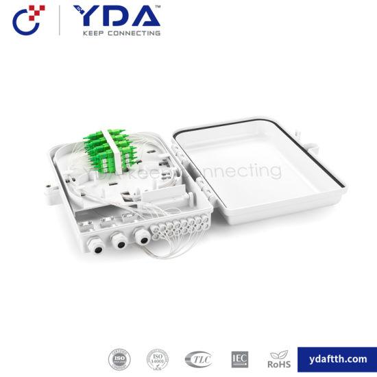 FTTH IP65 Outdoor Box Fiber Optic Plastic Box 16 Core Fiber Optic Distribution Box