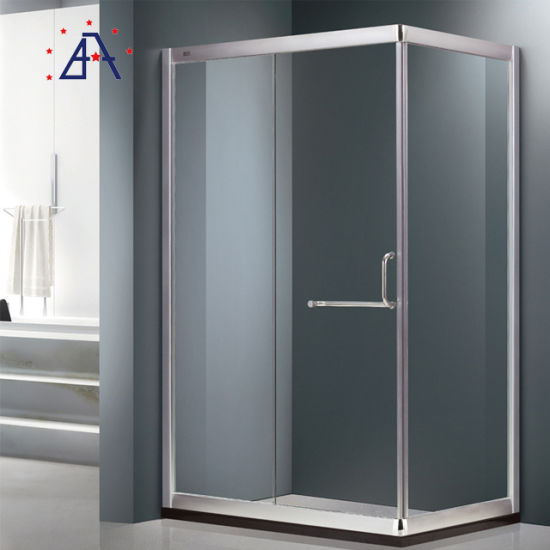 Aluminum Frame Tempered Glass Sliding Door Shower Room