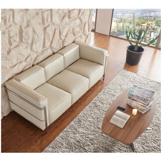 Vintage Leather Sofa, Hotel Furniture, Sofa Furniture for Living Room