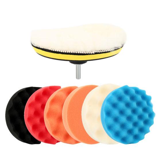 Polishing Bonnet Buffer Pad Cover Sponge Polisher for Car Paint Care Waxing Plac