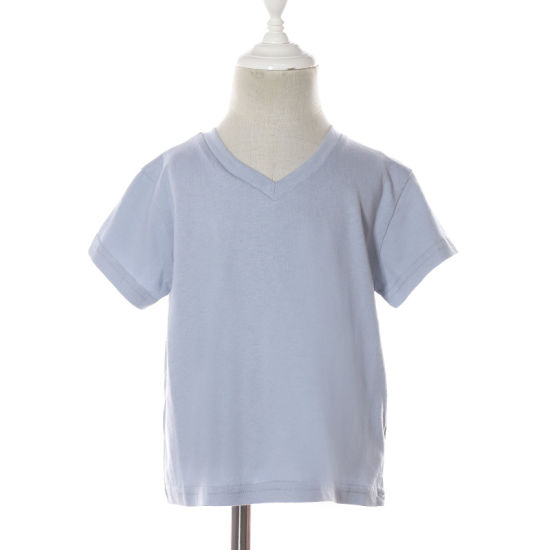 V Neck Summer Cotton Short Sleeves Wholesale Casual Kids' Boys T Shirts