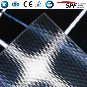 Arc Tempered Ultra Clear Low Iron Photovoltaic Solar Glass for Solar Panel