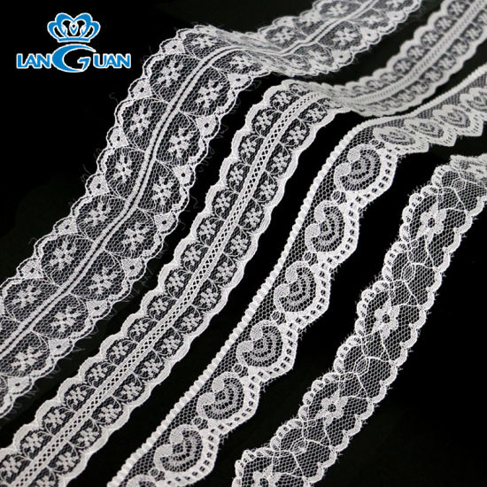 Factory Non-Elastic Knitted Romantic Victoria Lace Trimmed for Pajamas